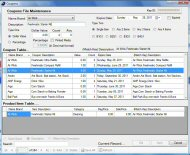 Coupon Tracker Coupons File Maintenance Screen